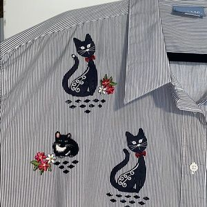 Kitty cats button front shirt Size 3X